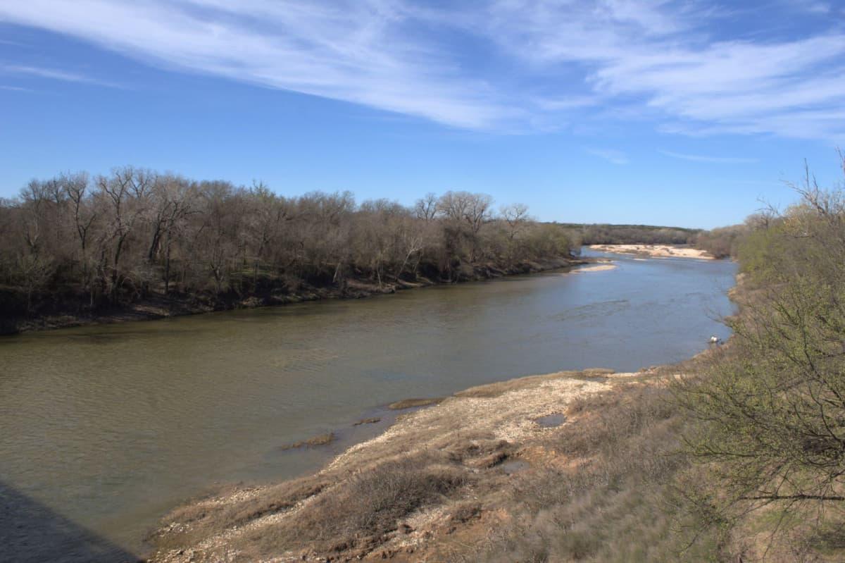 Her krysset Cleng Peerson Brazos River i 1850
