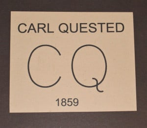 Carl Questads bumerke i Texas