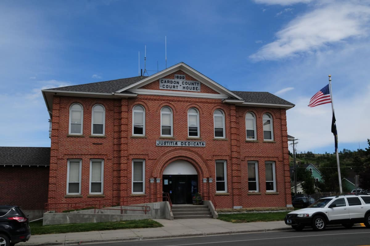 Red Lodge Court House fra 1899