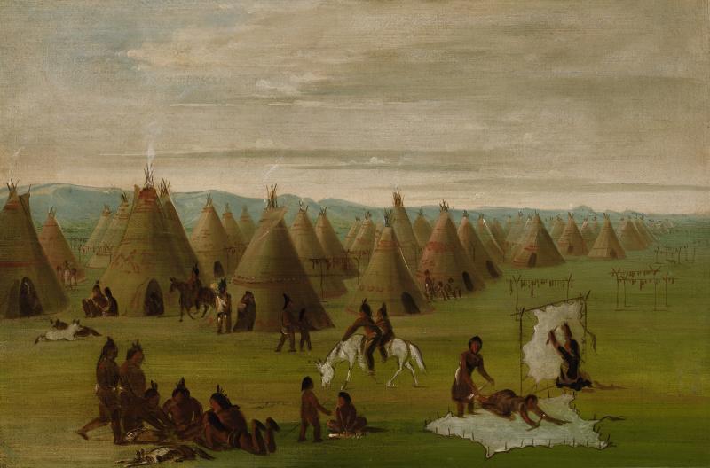 Indianerkulturen hadde en økonomisk struktur og sosiale skikker som var helt ukjent for de norske nybyggerne i Texas.